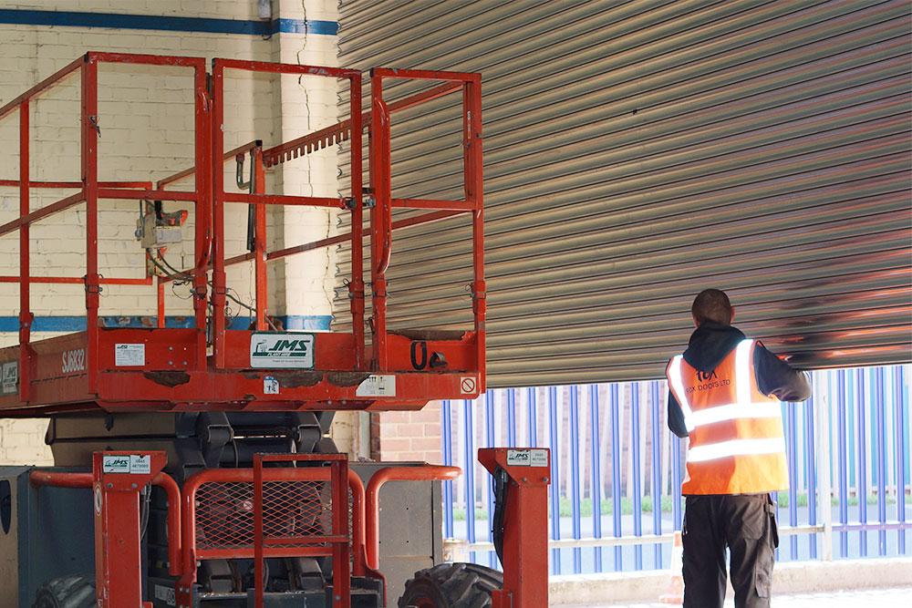 Fire Damaged Roller Shutter Replacement Fox Doors Ltd