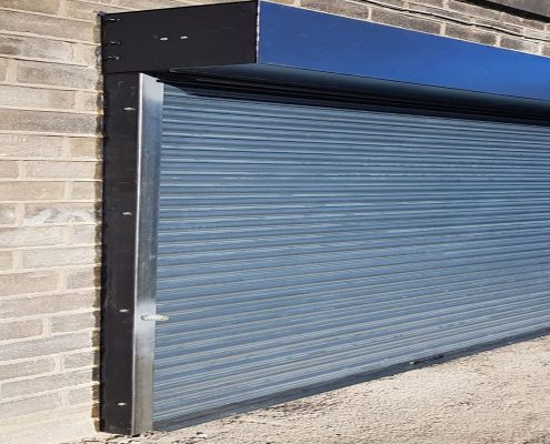 External Push Up Roller Shutter Door Fox Doors Ltd