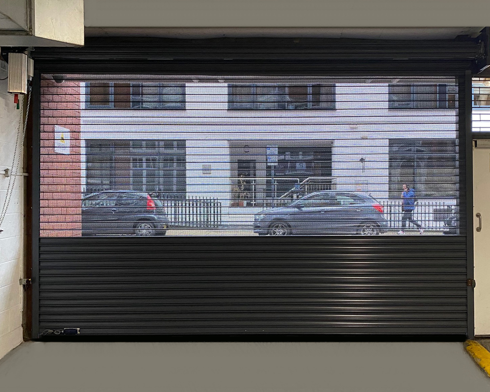 perforated shutter door